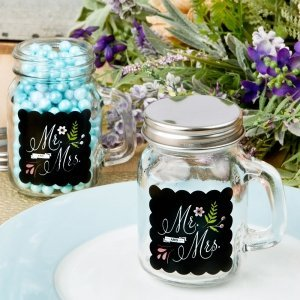 Mr & Mrs Design Mini Glass Mason Jar image