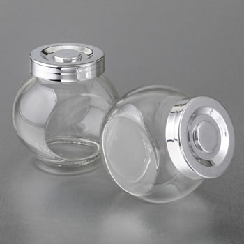 Perfectly Plain Candy Jar Favor with Silver Cap image