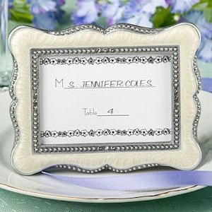 Victorian Place Card Frame with Enamel Inlay image