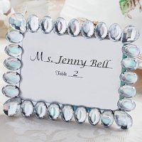 Shimmering Bling Place Card Frames for Weddings