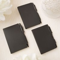 Perfectly Plain Collection Black Hard Molded Plastic Noteboo