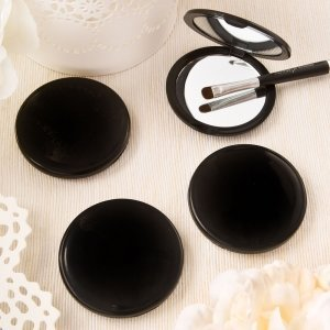 Black Compact Mirror Favors image