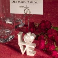 Stacked 'Love' Design Place Card Holders