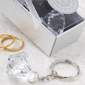 Crystal Clear Diamond Design Keychain Favors image