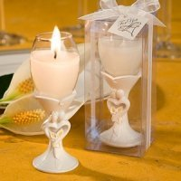 Bride and Groom Design Champagne Flute Candle Holders