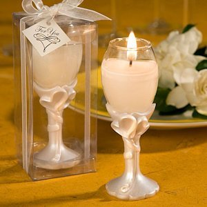 Double Heart Design Champagne Flute Candle Holders image