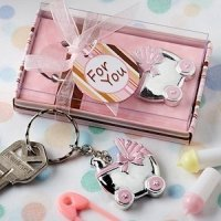 Pink Baby Carriage Keychain Favors