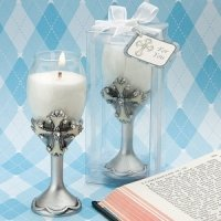 Cross Champagne Flute Candle Holders