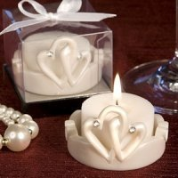 Interlocking Hearts Candles