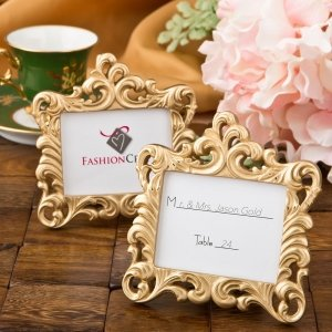 Gold Baroque Style Place Card Frame Favor image