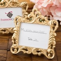 Gold Baroque Style Place Card Frame Favor