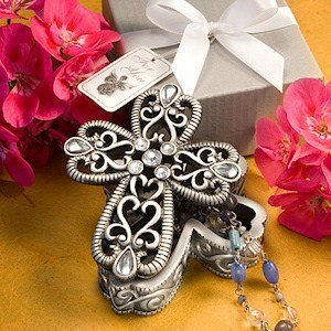 Religious Cross Trinket Box Favors image