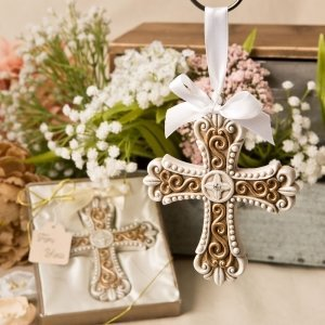 Stunning Vintage Design Cross Ornament Favor image
