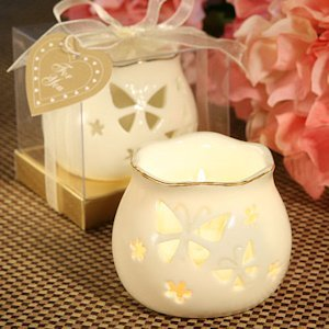 Butterfly Design Porcelain Candle Holders image