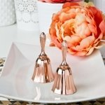 Rose Gold Metal Kissing Bell Favors