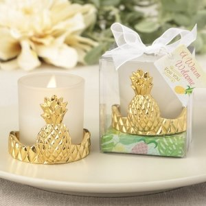 Pineapple Design Votive Candle Holder Favors image