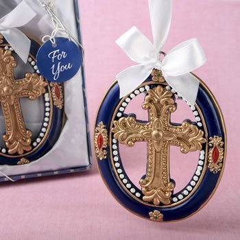 Gold Cross Themed Ornament Favor image