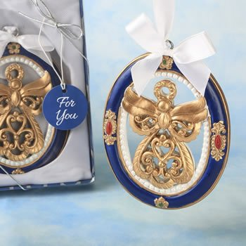 Gold Guardian Angel Themed Ornament Favor image