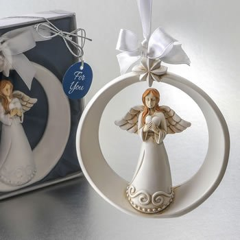 Guardian Angel with Heart Ornament with Ornate Star image