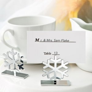 Snow Flake Design Placecard Holders image