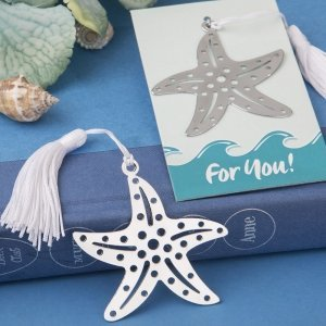 Beach Theme Starfish Bookmark Favors image