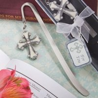 Cross Themed Page Marker with Enamel Inlay