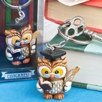 Wise Graduation Owl Key Ring Favors
