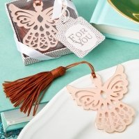 Rose Gold Guardian Angel Book Mark Favors