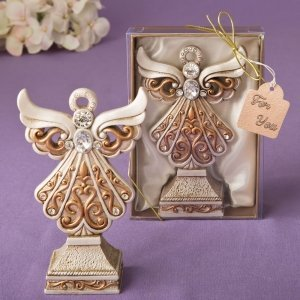 Antique Ivory Filigree Angel Statue image