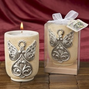 Large Angel Design Tea Light Candle Holder Favor image