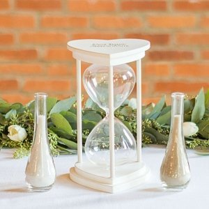 Personalized Unity Sand Ceremony Hourglass Set image