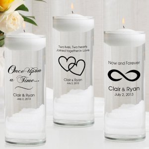 Romance Personalized Floating Unity Candle Set image