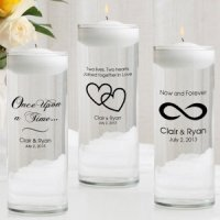 Romance Personalized Floating Unity Candle Set
