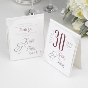 Two Sided Table Tent Card Holder image