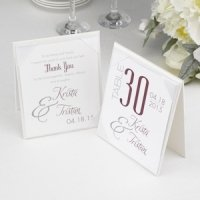 Two Sided Table Tent Card Holder