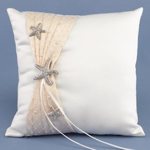 Destination Romance Beach Ring Bearer Pillow image