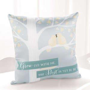 Love Birds 'Grow Old With Me' Wedding Ring Pillow image