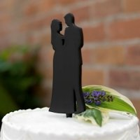 Couple Silhouette Cake Pick