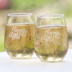 Happily Ever After Stemless Wine Glass (Set of 2) image