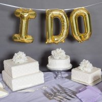 I Do Balloon Kit - Silver or Gold (2 Sizes)