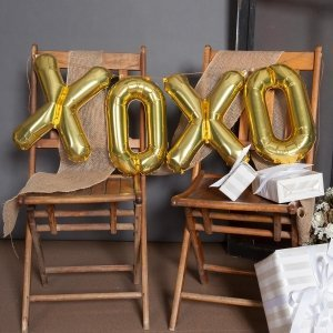 XOXO Balloon Kit - Silver or Gold (2 Sizes) image
