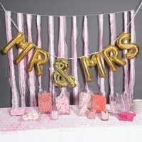 Mr & Mrs Balloon Kit - Silver or Gold (2 Sizes)