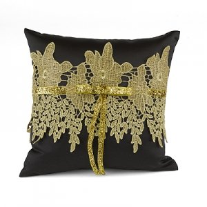 Golden Vintage Ring Pillow image