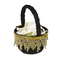 Golden Vintage Flower Girl Basket