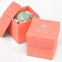 Mix and Match Two-Piece Coral Favor Boxes (Set of 25)