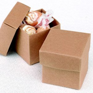 Mix and Match Two Piece Kraft Favor Boxes (Set of 25) image