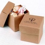 Mix and Match Personalized Kraft Favor Boxes (Set of 25)