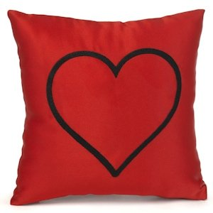 Red Heart Mini Throw Pillow image