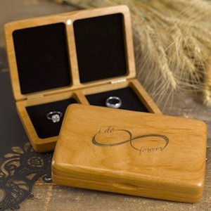 Infinity Wooden Ring Box image