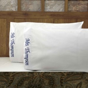 Mr & Mrs Personalized Pillow Case Set (Many Colors) image